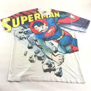 Vintage Superman DC Comics All Over T-Shirt